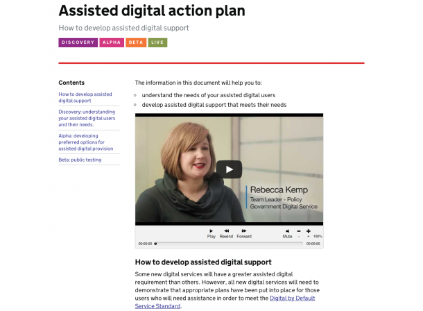 Assisted digital action plan
