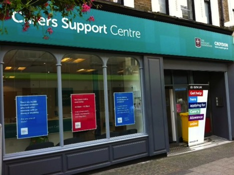 Photo of a carers support centre used for an assisted digital research pilot