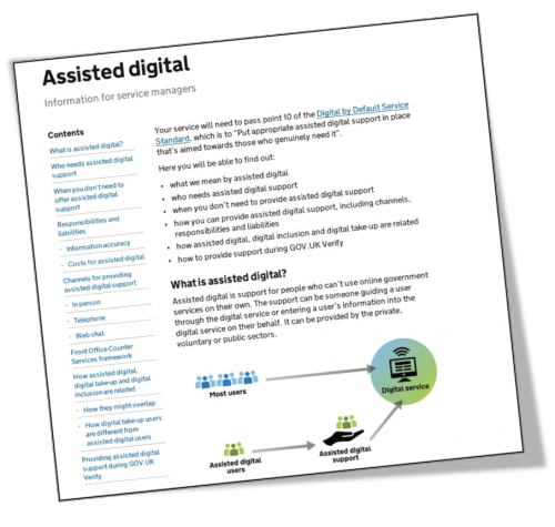 Assisted digital service manual screetshot