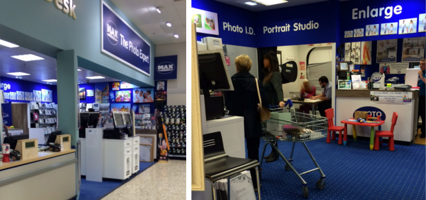 Photo of Max Spielmann store in Newbury showing people waiting and one participant receiving support